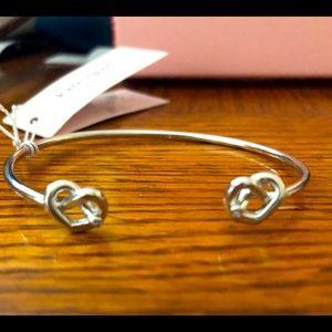 Kate Spade ♠️ Loves Me Knot CZ Heart Cuff Bracelet